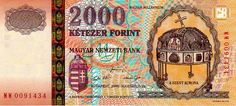 HUF 2000 2000 obverse - Holy Crown of Hungary - Wikipedia Saint Stephen, Budapest Hungary, Coin Collecting, Old Pictures, Historical Photos, Holi, Vintage World Maps, Marvel, Crown