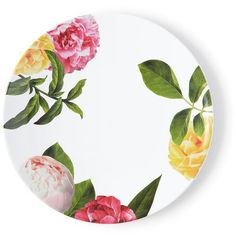 Kate Spade Patio Floral Dinner Plate (¥1,760) ❤ liked on Polyvore featuring home, kitchen & dining, dinnerware, kitchen, melamine dinner plates, kate spade dishes, patio dishes, kate spade and melamine salad plates