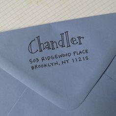 Chandler Address Stamp Selfinking by lettergirl on Etsy