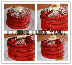 Christmas....red velvet pancakes