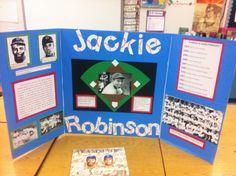 Jackie Robinson reading fair board. History Projects, Science Fair Projects, School Projects, Projects For Kids, Project Ideas, Mason School, Reading Fair, History Posters, Reading Projects