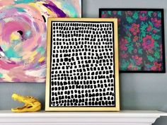 This Anthropologie Pointillism Wall Art Hack might just be my best one yet. I saw the Pointillism Wall Art and loved it, but couldn't believe the steep price of almost $700 for it. I knew I could make my own and already had a gold frame at home that would be perfect for it. I found the frame on sale at Hobby Lobby for $6 at 90% off and knew it would come in handy one of these days. This is the Anthropologie Pointillism Wall Art from Anthropologie. I had this nice thick gold fram… Cool Wall Decor, Diy Wall Art, Modern Wall Art, Wood Wall Art, Diy Art, Art Decor, Wood Canvas, Canvas Wall Art, Framed Botanical Prints