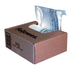Fellowes Powershred® Shredder Bags for All Personal Models, 100 Bags & Ties/Carton (36052) by Fellowes. $20.37. Powershred Waste Bags for Fellowes Shredder waste receptacles. Convenient bags keep work areas clean. Includes easy-to-use dispenser box with extra-long wire ties. For use with all Powershred Personal Shredders except the SB-97Cs and DM17Cs. Contains 100 Bags. Save 49%!