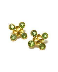 The Peridot Textured Earrings by JewelMint.com, $59.98