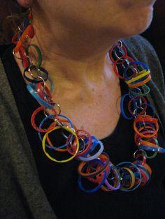My juice and water bottle necklace - Repurposed Fashion | Trashion | Refashion | Upcycled Fashion