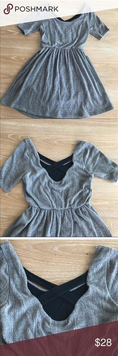 GRAY KNIT DRESS (CROSS OPEN BACK) 💗Condition: EUC, No flaws, no rips, holes or stains. Gray. Cross back, color black, very cute. Fabric is very nice. Size medium. Length: 34,5'. Bust: 36'  💗Smoke free home/Pet hair free 💗No trades, No returns. No modeling  💗 If you want to resell the item, yes, you are allowed to use my photos. 💗Shipping next day. Beautiful package! 💗ALL ITEMS ARE OWNED BY ME. NOT FROM THRIFT STORES 💗All transactions video recorded to ensure quality.  💗Ask all…