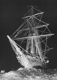 "Frank Hurley's picture ""Ghost Ship"" from the Shackleton expedition."