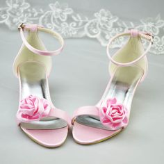 New Arrival Pink Bridal Wedding shoes,Bridal High Heels,Satin