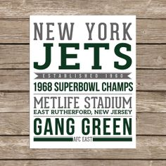 New York Jets - Printable, gifts for him, new york, new jersey, christmas gift ideas for guys, football gift, football fan