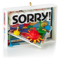 Sorry!® - Christmas Ornaments - Hallmark - Love how the board pops out from the center of the board inside the box. xD