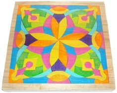 Handcrafted Mosaic Puzzle - Waldorf Toy - Energy