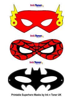 Printable Superhero Masks for