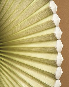 Add a distinctive and responsible style to windows.  Duette® Architella® Renewal™ honeycomb shade shades offer superior energy efficiency and are made from over 25% recycled materials. ♦ Hunter Douglas window treatments