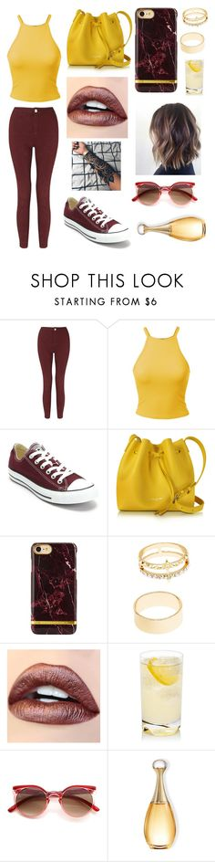 """""""Gryffindor"""" by alaxaaleys ❤ liked on Polyvore featuring Miss Selfridge, Converse, Lancaster and Charlotte Russe"""
