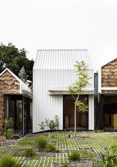 Andrew Maynard Architects created a home for a couple and their twin sons, who were wishing for a place for 'community, art and nature to come together', what they've got was a small village. Tower House is village externally and a home internally. The house defies logic as the exterior appears to be a series of small structures, while internally the spaces and functions are large and connected. Within the original house the architects have hidden sliding panels which allow the large shared…