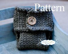 Knitted Diaper Cover Pattern Newborn Diaper Cover by SnassyCrafter