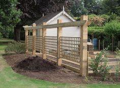 Trellis for veggies, also as one side of the fence around veggie garden