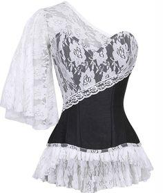 Check out this item on The Violet Vixen Laced Cloud Black Corset #thevioletvixen