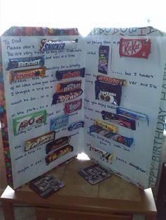 Trendy birthday card for boyfriend messages sweets 56 Ideas Birthday Candy Posters, Candy Birthday Cards, Birthday Card Messages, Candy Bar Posters, Birthday Card Sayings, Dad Birthday Card, Candy Cards, Birthday Ideas, 40th Birthday