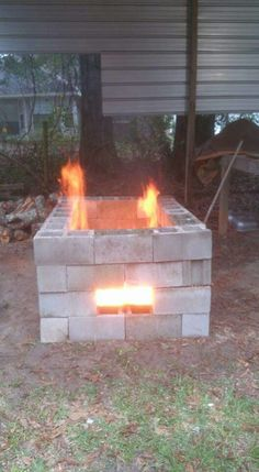 Create A Bbq Grill From Cinder Blocks Home Improvement