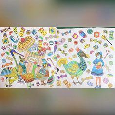 ㄧ早就被下大雨的聲音吵醒,就默默的完成了這兩頁,沒重點,就是花花綠綠的 #coloring #amily#奇幻夢境 #著色 #著色本 #amilyscolorfulwonderland#colorful#Amilyshen#奇幻梦境
