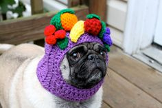 Dog Hat - Carmen Miranda Fruit Bowl/ Made to Order. $26.00, via Etsy.
