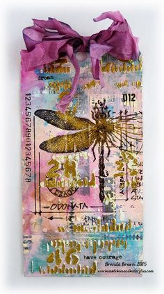 I love the mixed media feel to Tim's tag this month and especially the gold contrasted with the gorgeous paints, but I found the effects ...