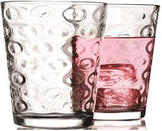 Circleware Circles Glass Drinking Glasses Set of 4 7 Ounce Limited Edition Glassware Drinkware Drink Cups coolers *** Want to know more, click on the image.