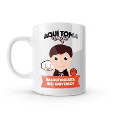 Mug - Aquí toma el mejor basquetbolista del universo, encuentra este producto en nuestra tienda online y personalízalo con un nombre o mensaje. Chocolate Caliente, Snoopy, Mugs, Tableware, Gifts, Love Amor, Ideas, Physical Therapist, China Mugs