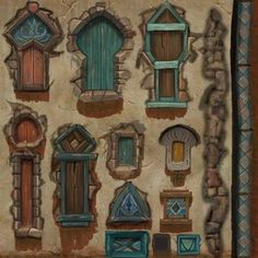Kingdoms of Amalur: Reckoning — Neal Jany Prop Design, Game Design, Game Art, Game Textures, Hand Painted Textures, Game Props, Cartoon Background, 3d Texture, Environment Concept Art