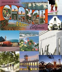 Cool little guide to my hometown, Orange County,CA.