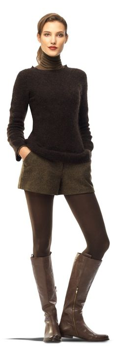 Max Studio by Leon Max Mohair Pullover Sweater Cozy Fashion, All Fashion, Winter Fashion, Fashion Looks, Fashion Outfits, Fashion Ideas, 80s Womens Fashion, Tweed Shorts, Women's Shorts