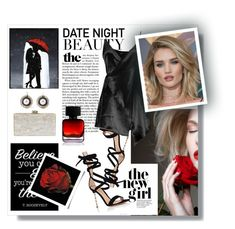 """""""Date night"""" by toasumjas ❤ liked on Polyvore featuring Edie Parker, Gianvito Rossi, Boohoo, Whiteley and The Collection by Phuong Dang"""