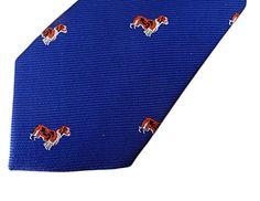 Crew Cuts Boys Spaniel Dog Necktie – Blue – One Size Neck Tie