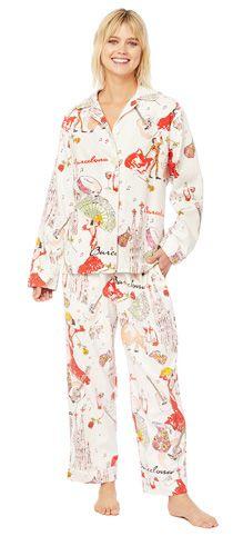 cff2ae87e0 The Cat s Pajamas Women s Barcelona Classic Flannel Pajama Set Cat s Pajamas