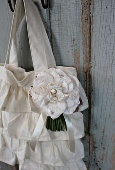 cotton ruffle bag
