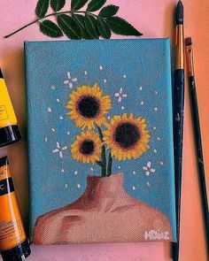 Hippie Painting Ideas 80935 she has a companion who's coming soon? Small Canvas Paintings, Small Canvas Art, Cute Paintings, Mini Canvas Art, Oil Paintings, Indian Paintings, Abstract Paintings, Easy Acrylic Paintings, Amazing Paintings