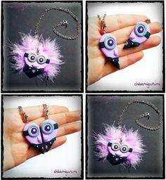 Evil Minion heart charm chibi necklace in por Chibiamigurumi, €17.95
