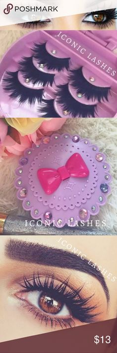 Eyelashes+ Eyelash Case +$2 Add on eyelash Applicator  +$3 Add on eyelash glue Please message me if you want to add them.   ❌No Offers ✅ Bundle &  Save  # tags Iconic, mink, red cherry eyelashes, house of lashes, doll, kawaii, case, full, natural,  Koko, Ardell, wispies, Demi , makeup, Iconic, mink, red cherry eyelashes, house of lashes, doll, kawaii, case, full, natural,  Koko, Ardell, wispies, Demi , makeup, mascara, eyelash applicator, Mykonos Mink , Lashes , wispy ,eyelash case, mink…