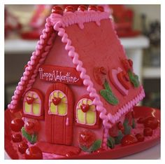 Valentine's Gingerbread House by linda