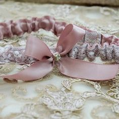 Garter set made for Mandy in dusty rose Wedding Garters, Garter Set, Dusty Rose, Heavenly, Custom Design, Palette, Colour, Bride, Fit
