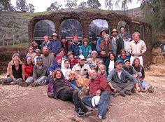 Cob building workshop group photo