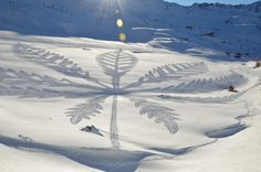 Creativity Out in The Cold - Snowshoe Art from Geometric Genius | Chase Jarvis Blog