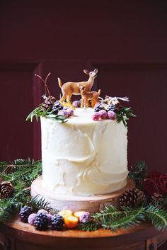 Red velvet woodland cake.