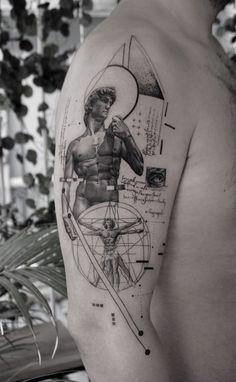 Nature Tattoos, Body Art Tattoos, Tribal Tattoos, Pisces Tattoos, Tattoo Art, Statue Tattoo, Modern Tattoos, Unique Tattoos, Cool Tattoos