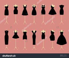 fashion sketch little black dress - Google Search