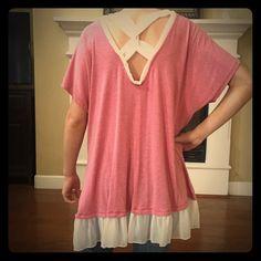 BRAND NEW Pink v back top Brand new Pink v back top Tops