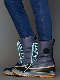 Simple yet colorful yet goes with everythin winter boot...Sorel 1964 Premium Weather Boot