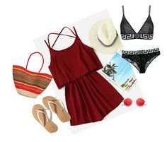 """""""Untitled #101"""" by olivia-rosemary ❤ liked on Polyvore featuring Versace, Hollister Co. and Pitusa"""