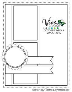 Viva La Verve! October 2012 Week 4 Card Sketch - {10/19/12}  Designed by Tosha Leyendekker.